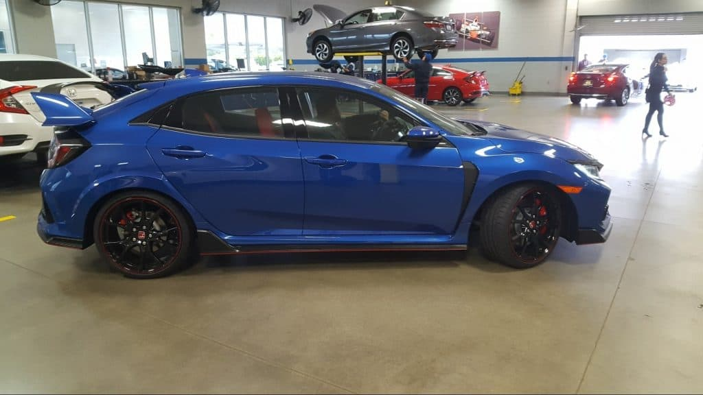 New Honda First Service - blue Civic Type R