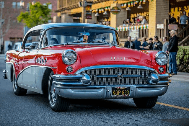 red and white hot rod from Temecula Rod Run