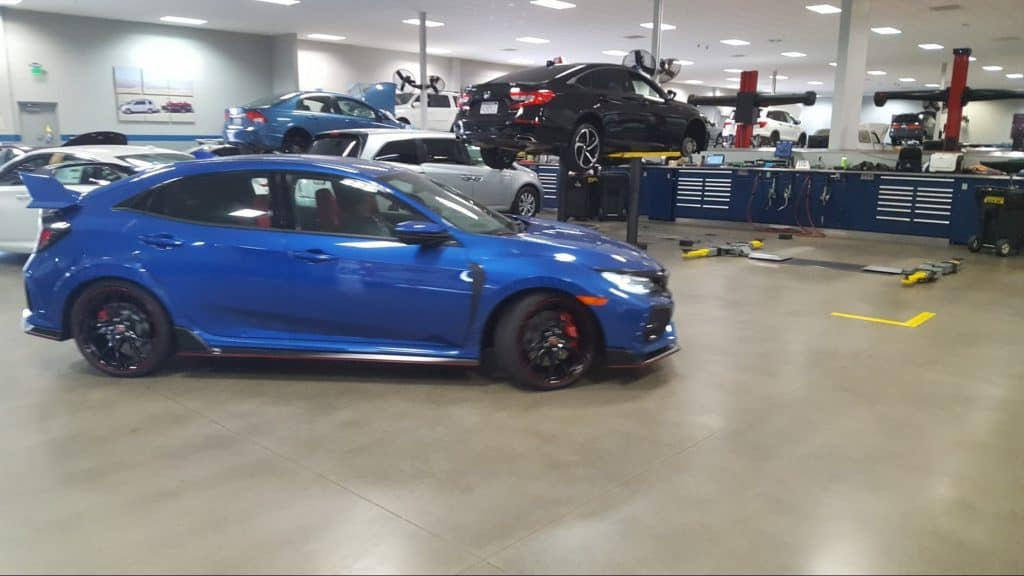 Type R Enters Service Bay