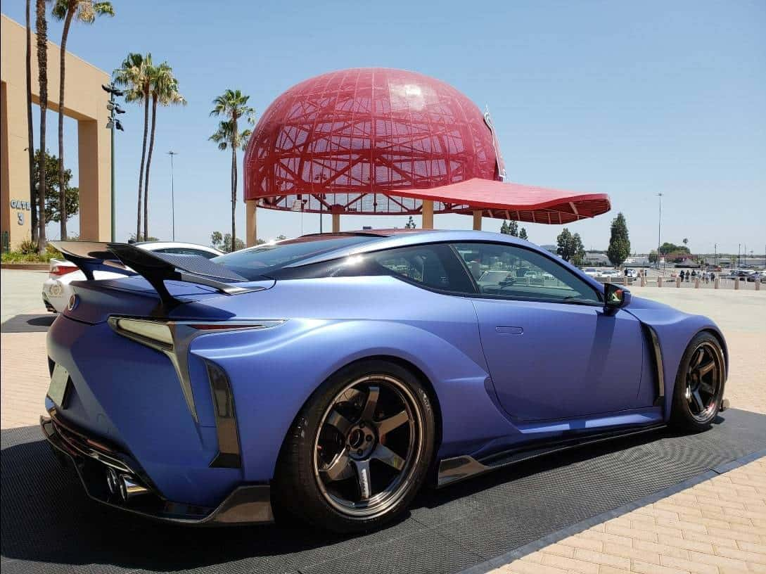 Rear passenger profile Lexus LC Import Tuner Car