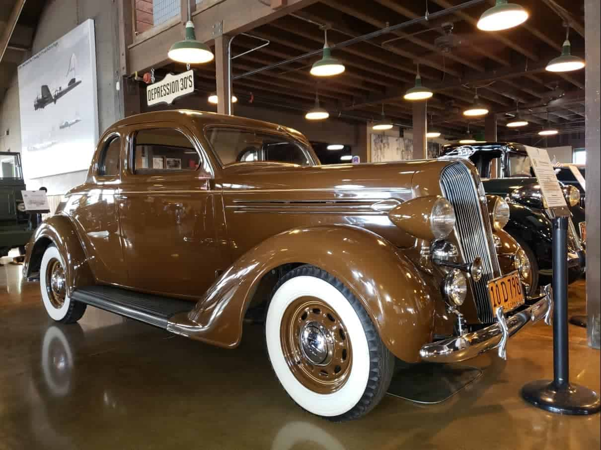 Tan colored shiny museum quality 1930's coupe