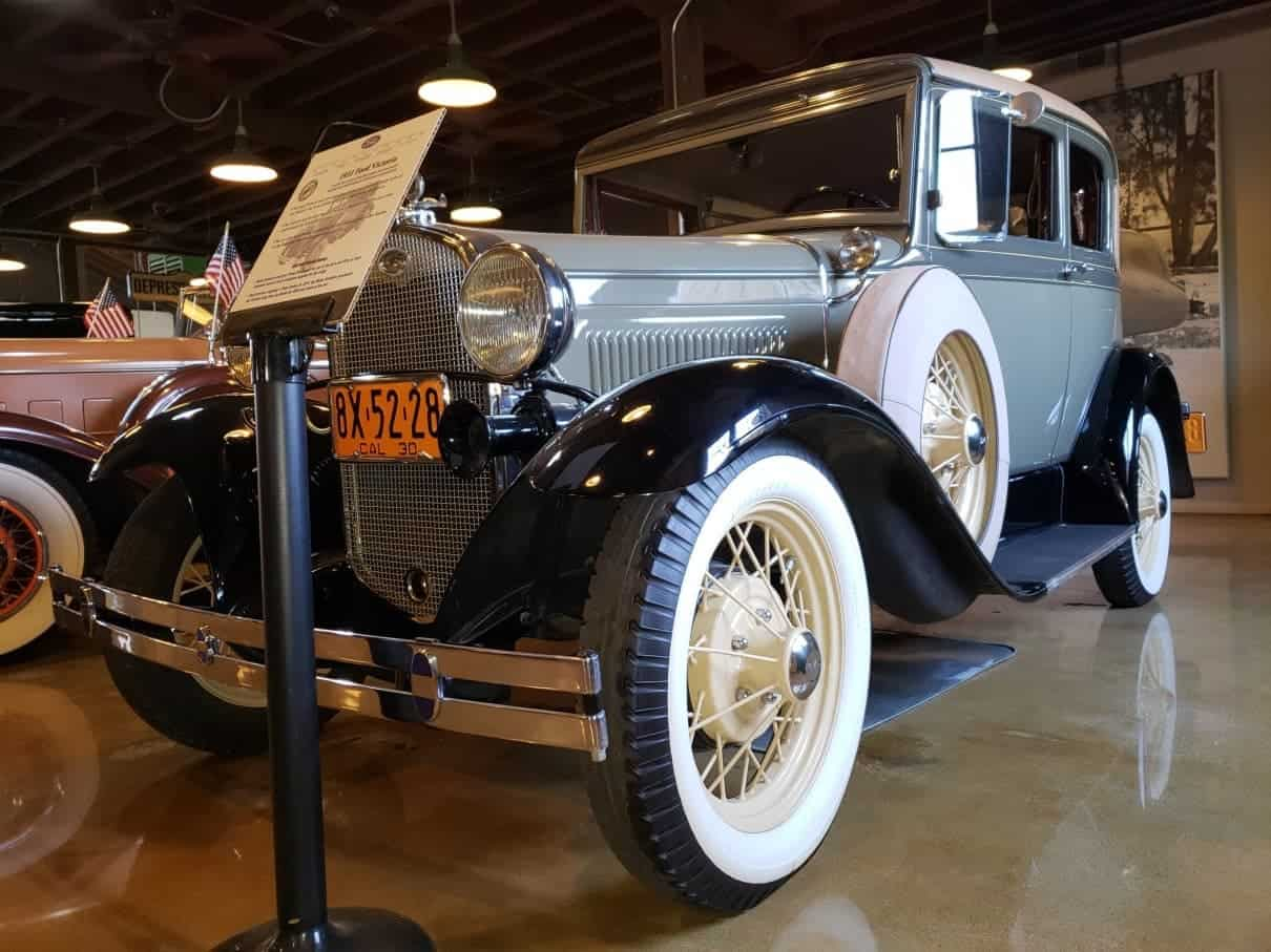 Baby blue 1931 Ford Victoria @ the Motte Historical Museum in Menifee
