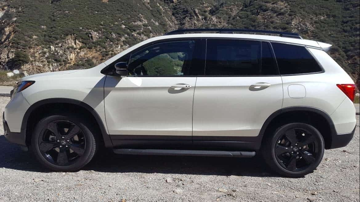 White 2019 Honda Passport driver profile