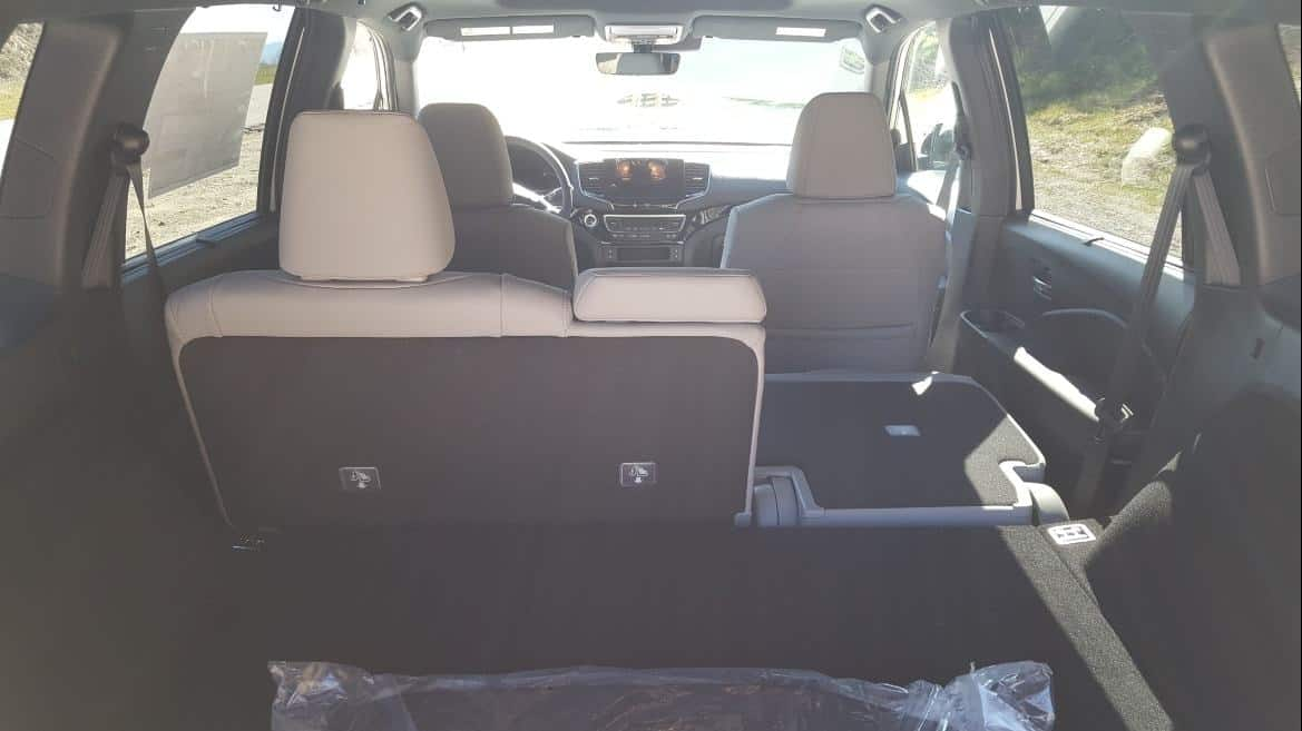 2019 Honda Passport interior rear partial seat down