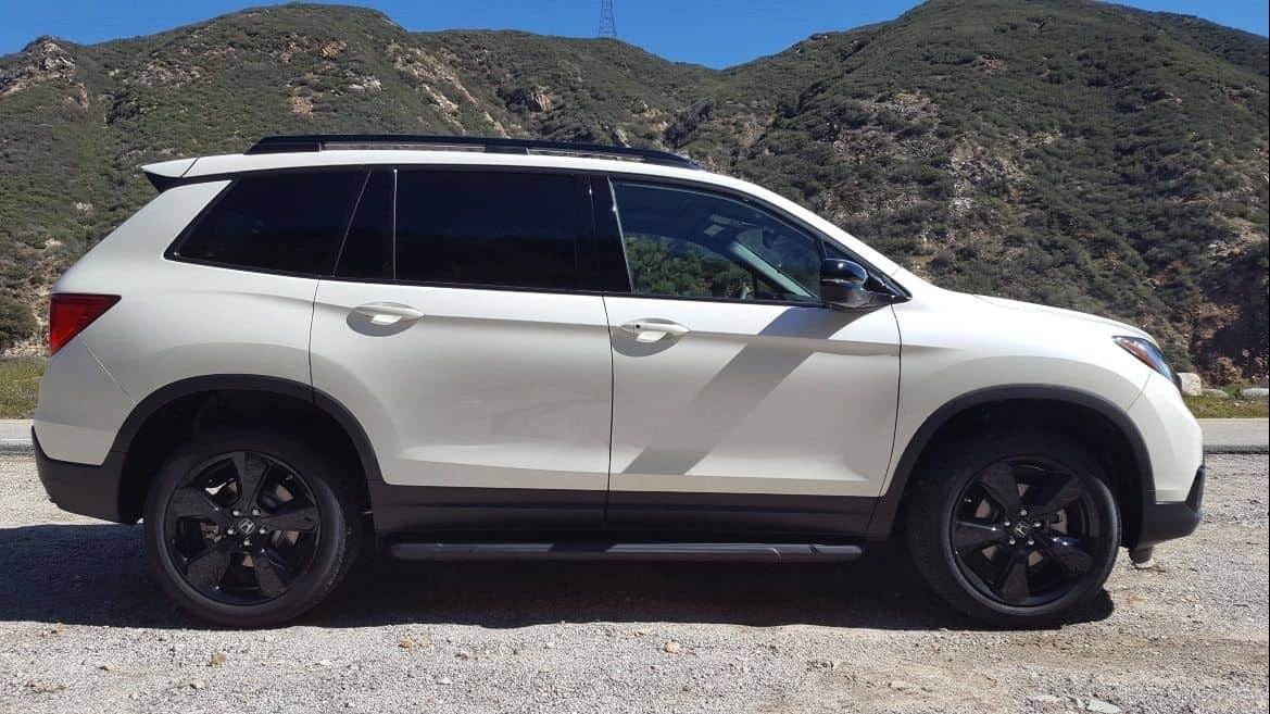 White 2019 Honda Passport passenger profile