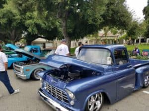 Cool Cruise Car Show blue 1950's truck