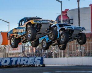 Long Beach Grand Prix trucks jumping