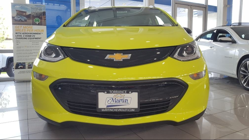 Shock Yellow 2019 Chevrolet Bolt EV front