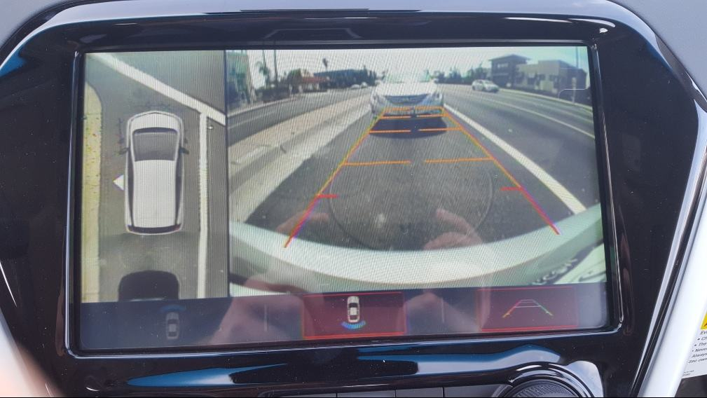 Close up 2019 Chevrolet Bolt EV birdseye view display