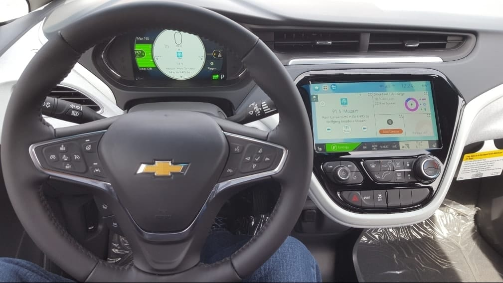 2019 Chevrolet Bolt EV cockpit dashboard view.