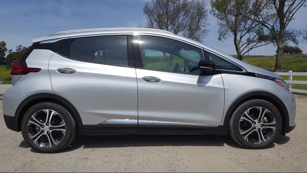 Silver 2019 Chevrolet Bolt EV passenger profile