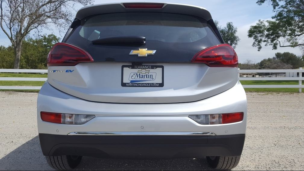Silver 2019 Chevrolet Bolt EV rear