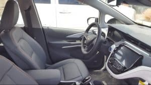 Gray 2019 Chevy Bolt EV cockpit