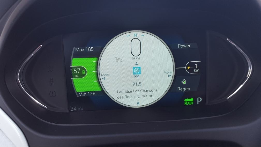 Digital screen close up 2019 Chevy Bolt EV dash.