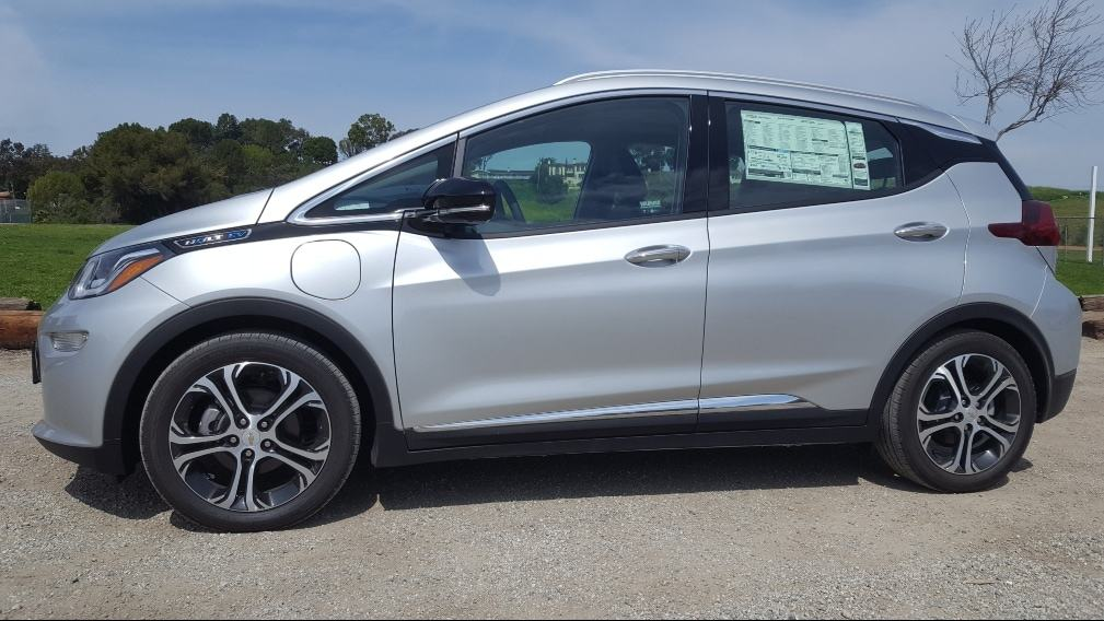 Silver 2019 Chevy Bolt EV driver profile