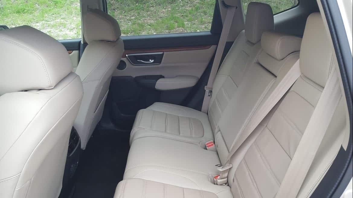 Tan interior 2019 Honda CR-V back seat