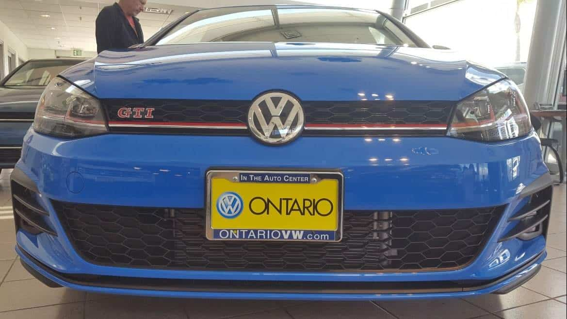 Front 2019 VW Golf GTI Rabbit Cornflower Blue