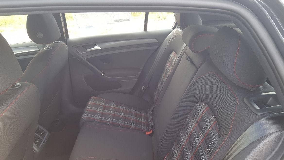 2019 Volkswagen Golf GTI Clark Plaid rear seats