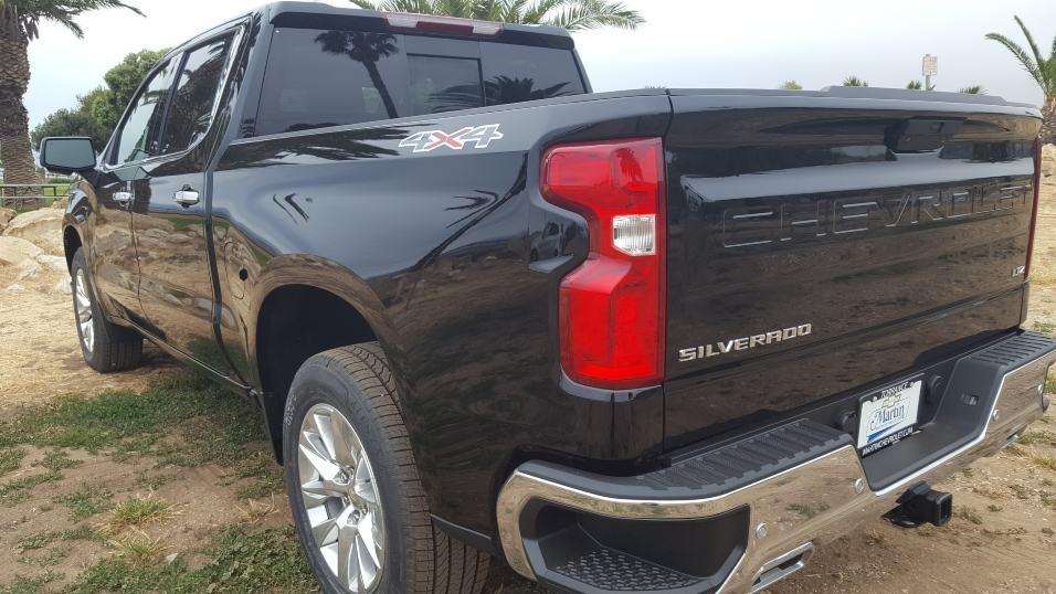 Black 2019 Chevrolet Silverado 1500 driver rear