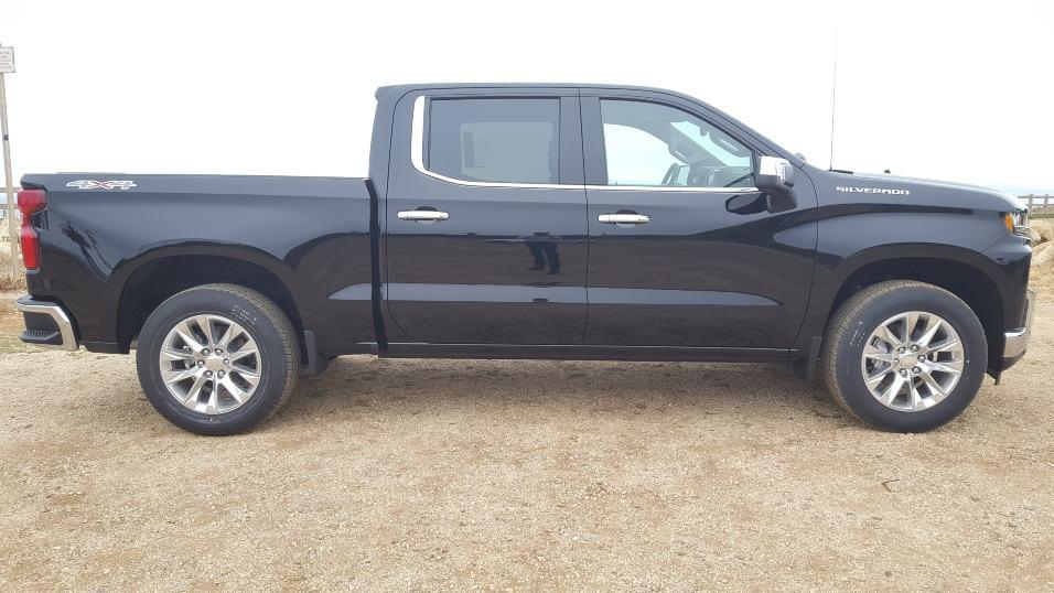 Black 2019 Chevrolet Silverado 1500 passenger profile