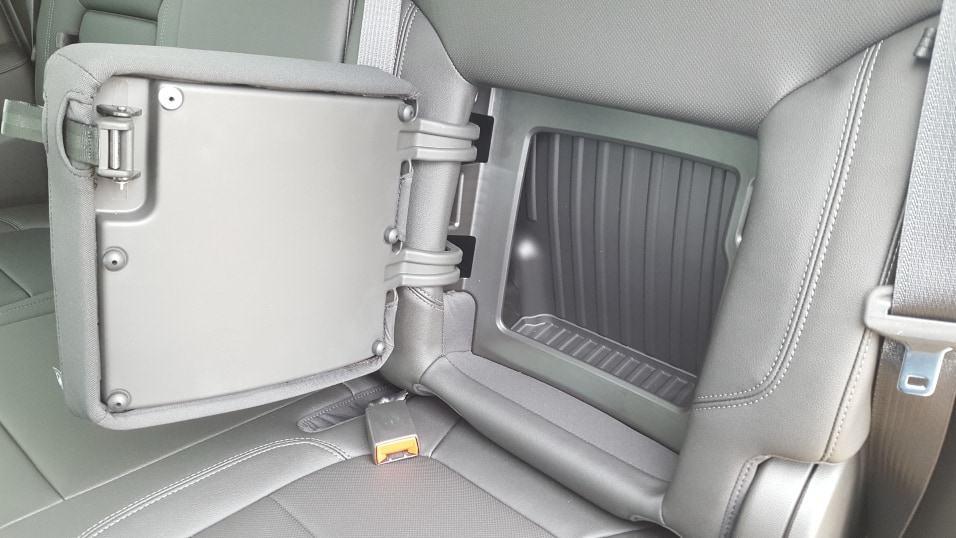 Gray 2019 Chevy Silverado 1500 backseat storage