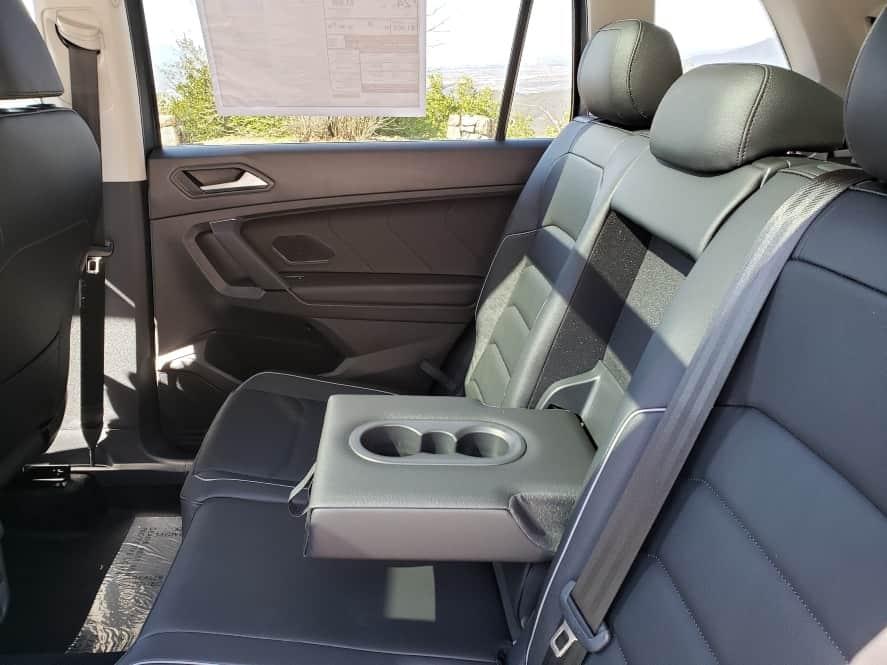 Gray 2019 VW Tiguan backseat