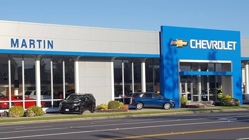 Exterior front of Martin Chevrolet