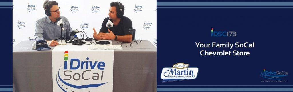 Martin Chevrolet's Lewis Cook & Tom Smith pictured as part of iDriveSoCal Podcast Banner 173 Your Family SoCal Chevy Store