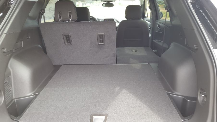 Gray 2019 Chevrolet Blazer cargo area w. backseat down