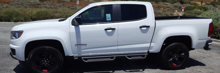 White 2019 Chevrolet Colorado driver profile banner