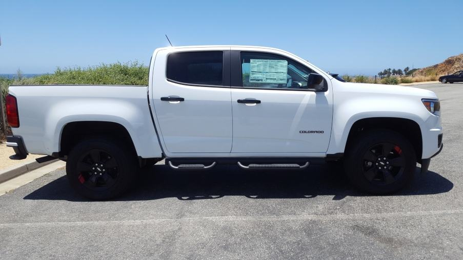 White 2019 Chevy Colorado passenger profile