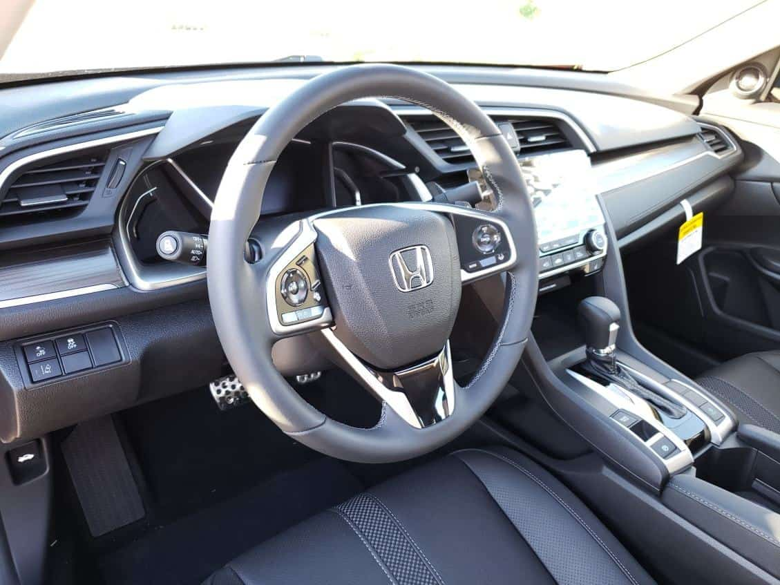 Gray 2019 Honda Civic Sedan cockpit