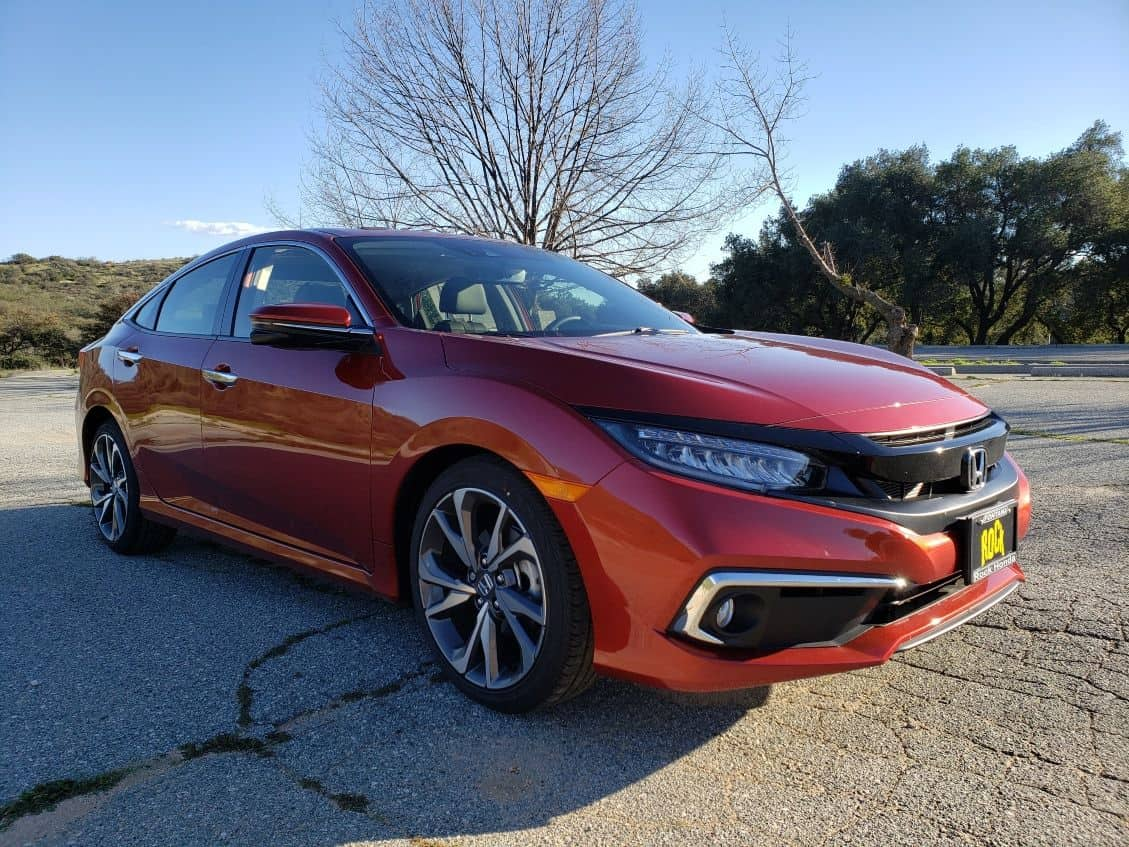 Red 2019 Honda Civic Sedan passenger front