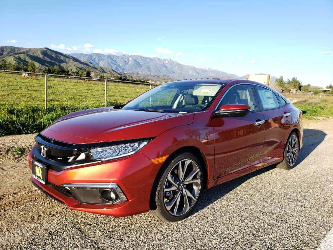 Red 2019 Honda Civic Sedan driver front