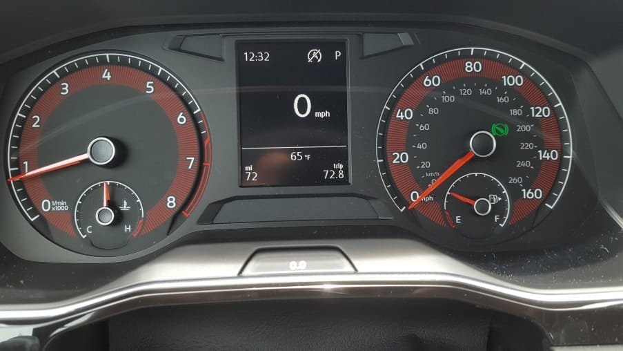 2019 VW Jetta GLI 35 instrument cluster