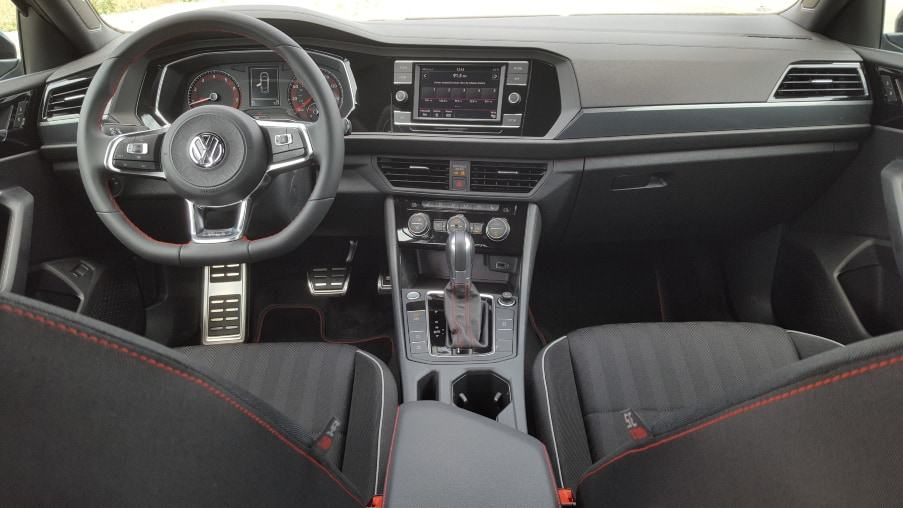 Interior 2019 VW Jetta GLI 35th Anniversary rear to front dash