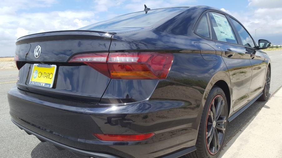Gray 2019 Volkswagen Jetta GLI 35 passenger rear
