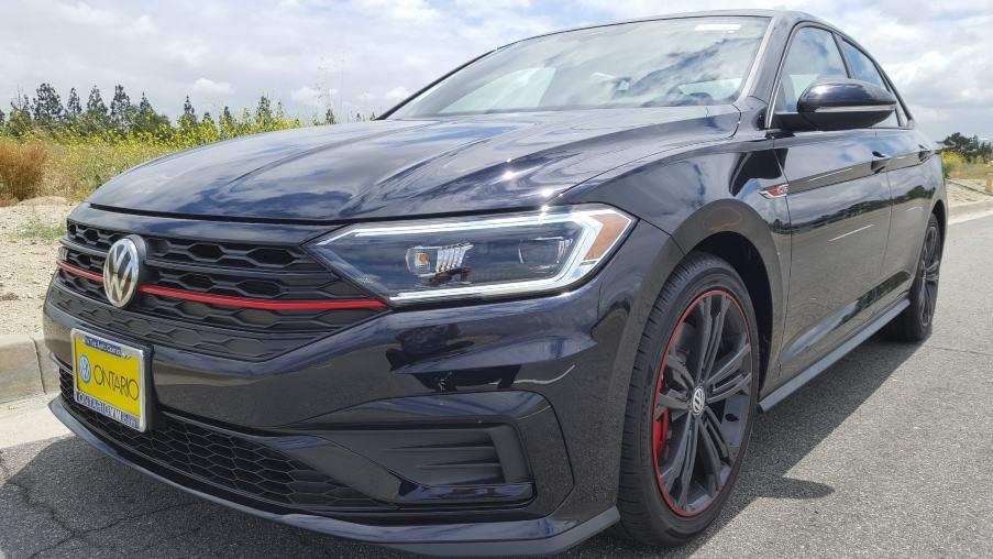 Gray 2019 Volkswagen Jetta GLI driver front