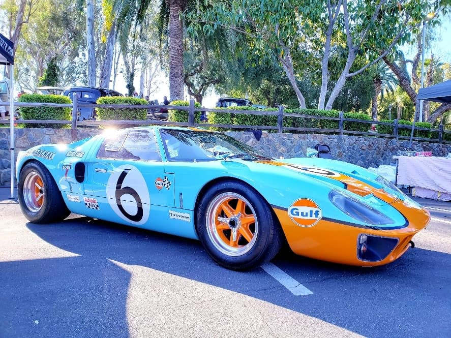 Classic sky blue and orange Gulf sponsored Ford GT