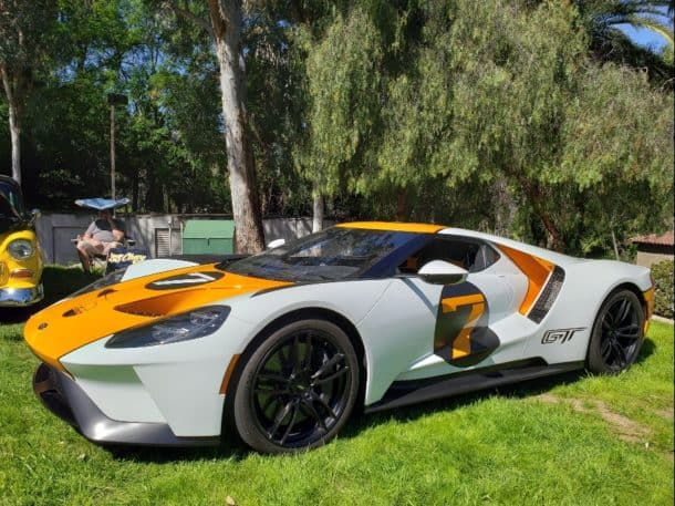 Ford GT White Orange
