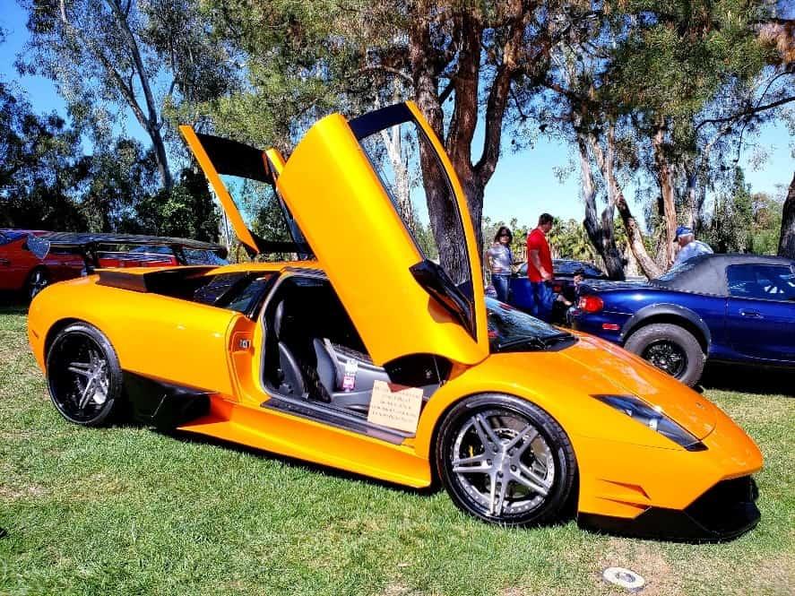 Orange Lamborghini Murcielago @ Benedict Castle Car Show
