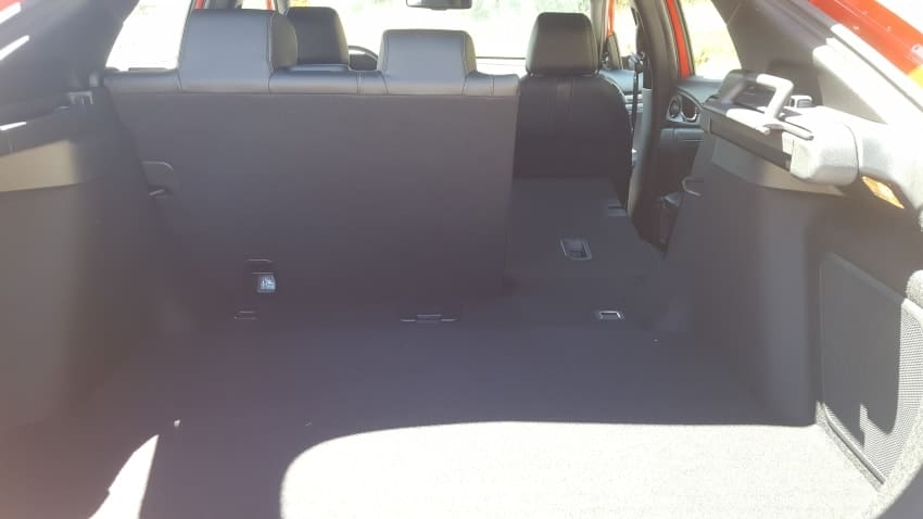 2019 Honda Civic hatchback cargo area