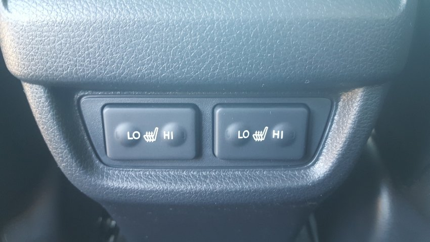 Heated backseat switches