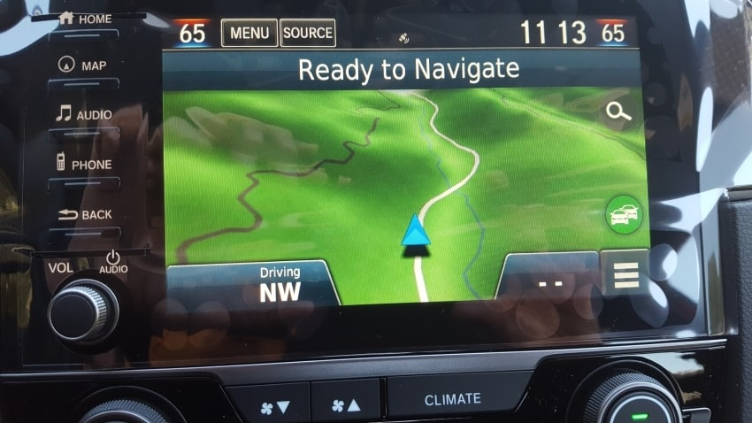 Navi touch screen