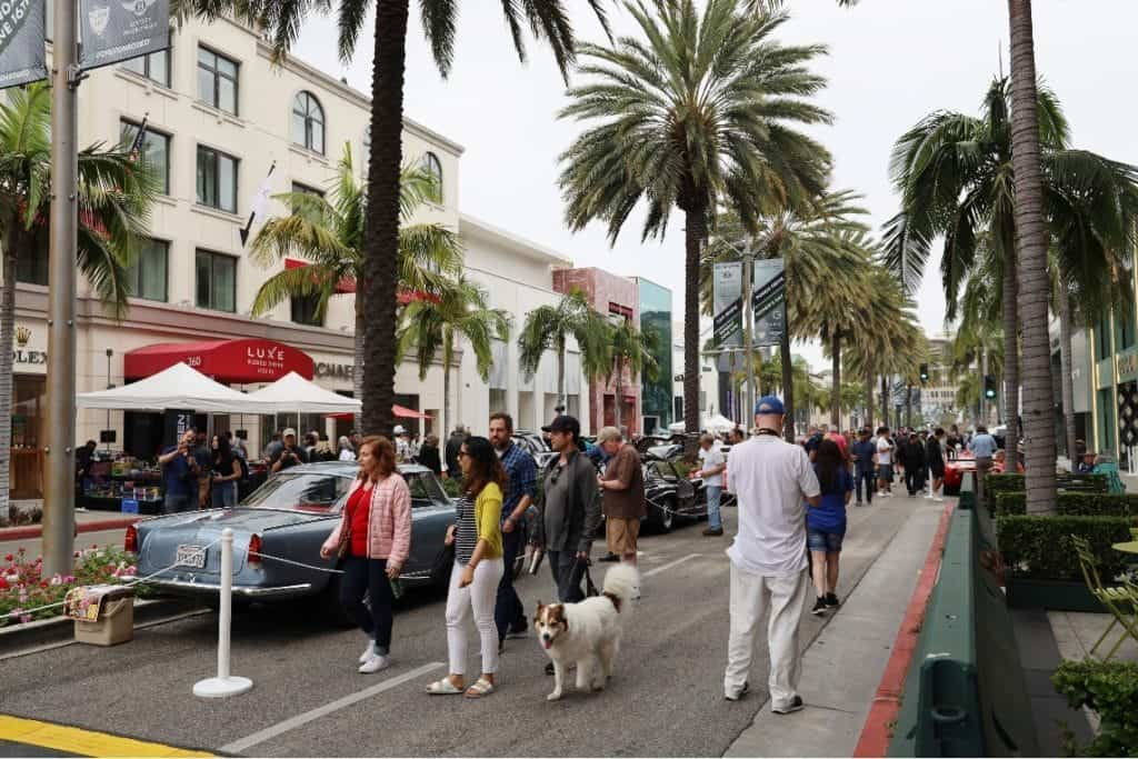 Attendees at the Rodeo Drive Concours d'Elegance