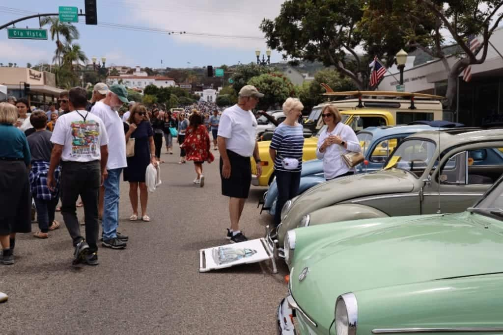 Attendees at the San Clemente Car Show