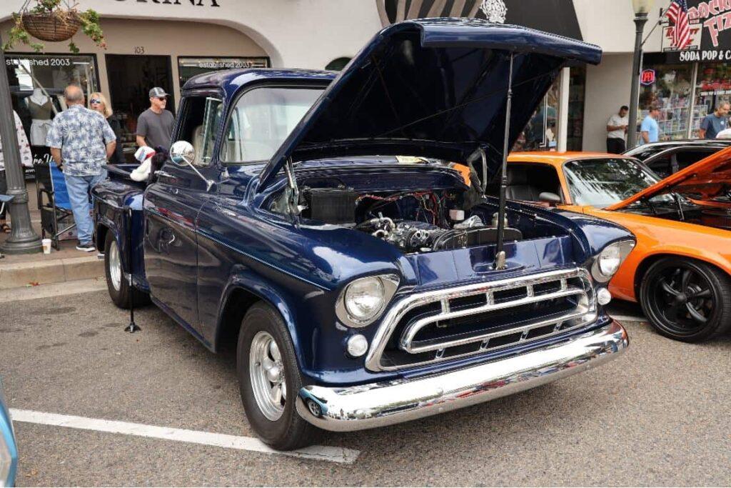 Beautiful dark blue 1957 Chevy stepside
