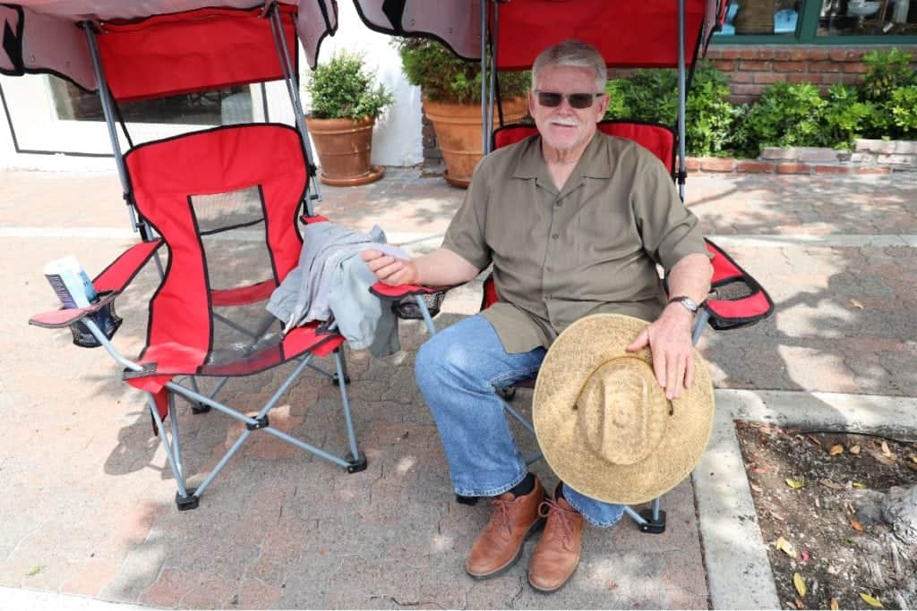 Participant Dennis Sechrest at the San Clemente Car Show