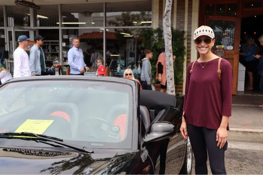 Attendee Elizabeth Williams at the San Clemente Car Show.