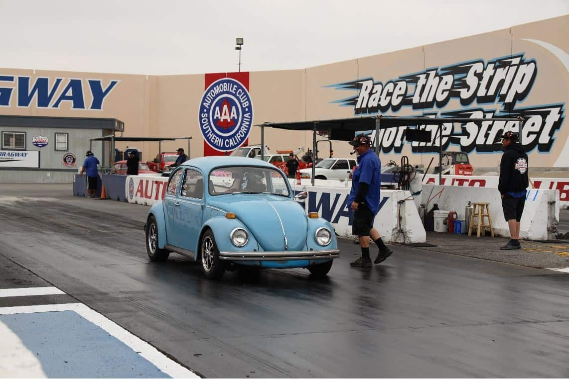Blue Volkswagen Bug at VW Bug Drag Race